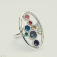 Palette Ring silver