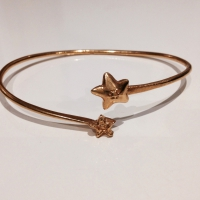 The World on the Moon Cuff rose gold