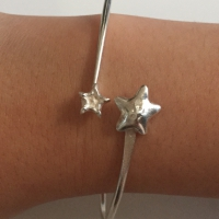 The World on the Moon Silver Cuff